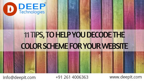 11 Tips, to help you Decode the Color Scheme for your Website